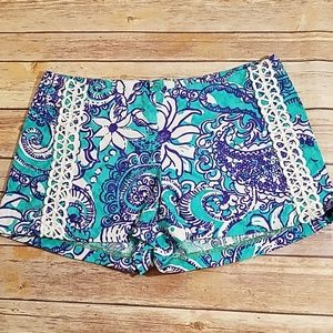 Lilly Pulitzer Liza shorts aqua blue